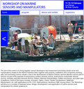 Workshop on Marine Sensors and Manipulators